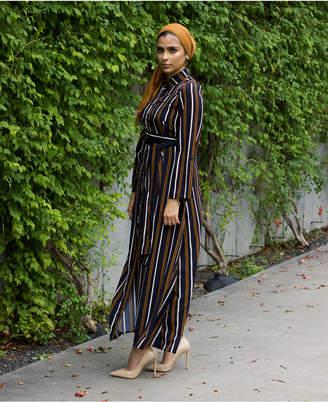 Verona Collection Striped Maxi Dress