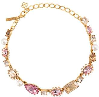 Oscar de la Renta mixed jewel necklace