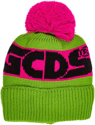 GCDS Wool Beanie Hat