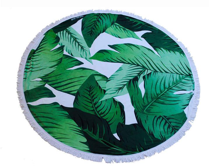 Yoga Zeal Banana Leaf Round Beach Towel