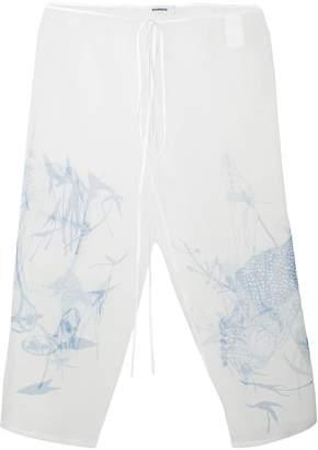 Marios sheer printed trousers