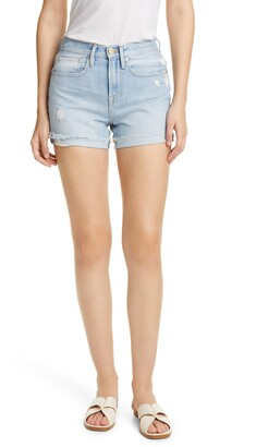 Frame Le Brigette Raw Cuffed Denim Shorts
