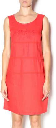 Yest Red Linen Dress