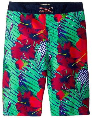 Appaman Kids Hawaiian Print Swim Trunks Boy's Swimwear