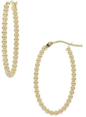 Bony Levy 14K Yellow Gold Beaded Oval Hoop Earrings