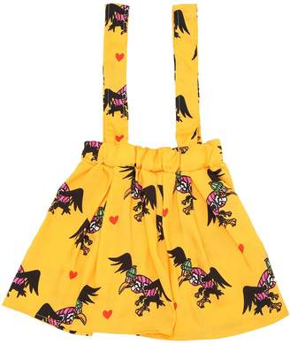Condor Printed Skirt W/ Suspenders