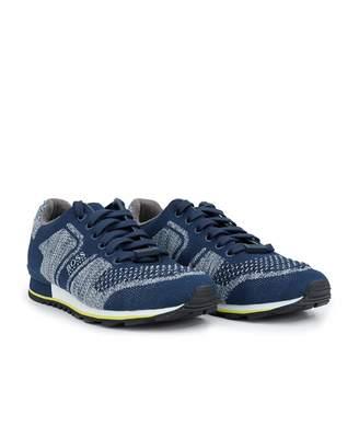 Boss Footwear BOSS Footwear Parkour Run Knit Trainers Colour: BLACK, Size: UK 8