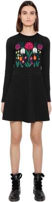 Blugirl Flower Intarsia Wool Knit Dress