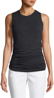 Halston Ruched-Side Pullover Tank Top