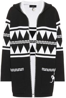 Alanui Intarsia wool cardigan