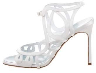 Manolo Blahnik Satin Multistrap Sandals w/ Tags