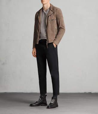 AllSaints Theo Suede Biker Jacket
