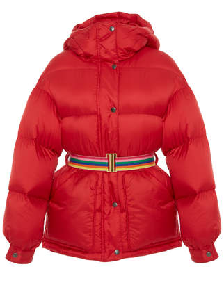 Perfect Moment Belted Quilted Shell Hooded Parka