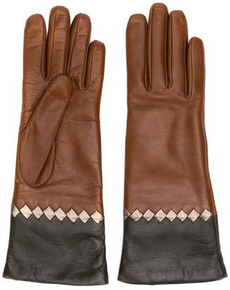 Bottega Veneta Intrecciato detail gloves