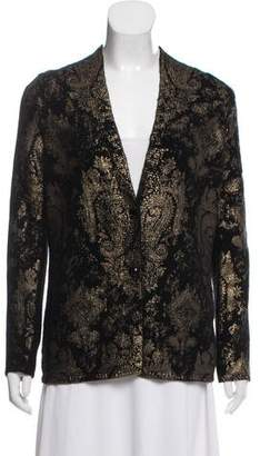Etro Wool and Cashmere Blend Printed Cardigan