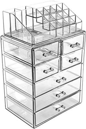 Sorbus Acrylic Cosmetic Makeup and Jewelry Storage Case Display - Spacious Design - Great for Bathroom