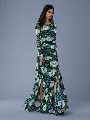 Diane von Furstenberg Maxi Fitted Mesh Dress