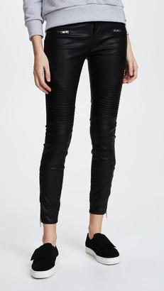 Blank Black Vegan Leather Moto Pants