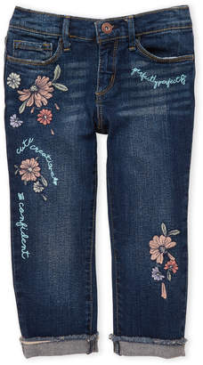 Jessica Simpson Girls 7-16) Embroidered Forever Rolled Frayed Jeans