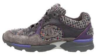 Chanel CC Tweed Low-Top Sneakers