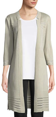 Misook 3/4-Sleeve Notched-Lapel Topper Jacket, Petite