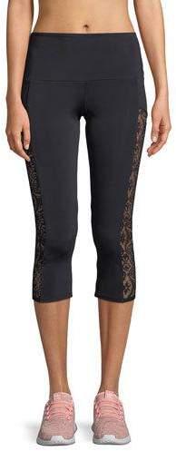 Onzie Stunner Capri Leggings with Lace Panels