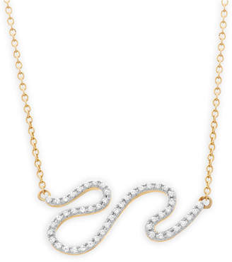Wrapped Diamond Squiggle Pendant Necklace (1/6 ct. t.w.) in 10k Gold, Created for Macy's