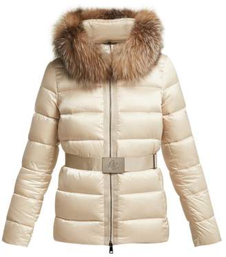 Moncler Tatie Quilted Down Jacket - Womens - Beige