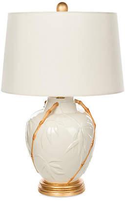 One Kings Lane Bradburn Home For Embossed Bamboo Table Lamp - White/Gold