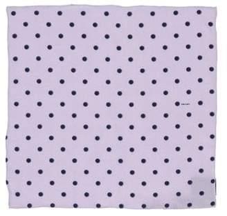 Prada Polka Dot Silk Pocket Square