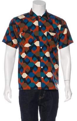 Marc by Marc Jacobs Silk Geometric Print Shirt