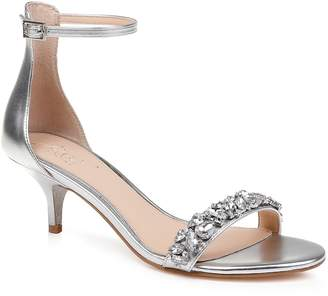 Badgley Mischka Dash Embellished Halo Strap Sandal