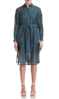 Peserico Striped Belted Shirtdress