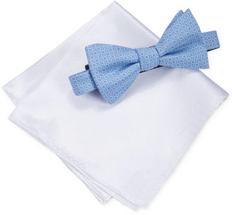 Alfani Men's Ludlow Geometric Bow Tie & Pocket Square Set, Only at Macy's $55 thestylecure.com