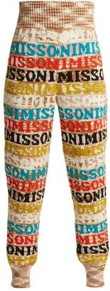 Missoni Logo Knit Wool Blend Leggings - Womens - White Multi