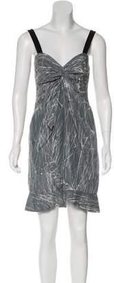 Laila Azhar Printed Mini Dress