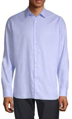 Valentino Long-Sleeve Cotton Button-Down Shirt