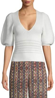 Torn By Ronny Kobo Women's Puffy Sleeve Sweater