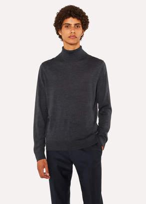 Paul Smith Men's Charcoal Grey Merino Wool Roll Neck Sweater