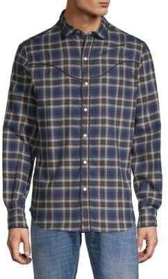 Valentino Plaid Cotton Button-Down Shirt
