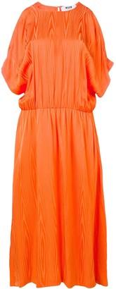 MSGM cold-shoulder midi dress