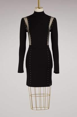 Balmain Stud Detail Mini Dress
