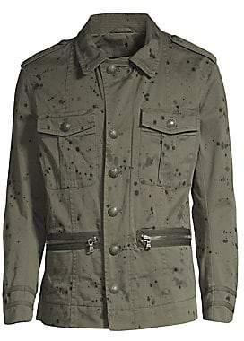 John Varvatos Men's Ink Drop Stained Jacket