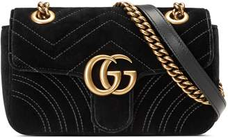 GG Marmont velvet mini bag $1,290 thestylecure.com
