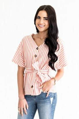 N. Everyday ShopRachel Parcell Peaches N' Cream Striped Blouse