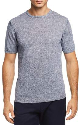 The Men's Store at Bloomingdale's Marled Short Sleeve Crewneck Sweater - 100% Exclusive