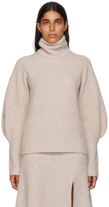 Altuzarra Pink Cashmere Arrow Turtleneck