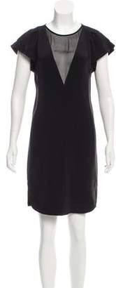 Rebecca Taylor Silk Mesh-Accented Dress w/ Tags