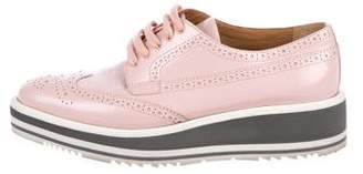 Prada Brogue Platform Oxfords