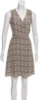 Barbara Bui Silk Sleeveless Knee-Length Dress